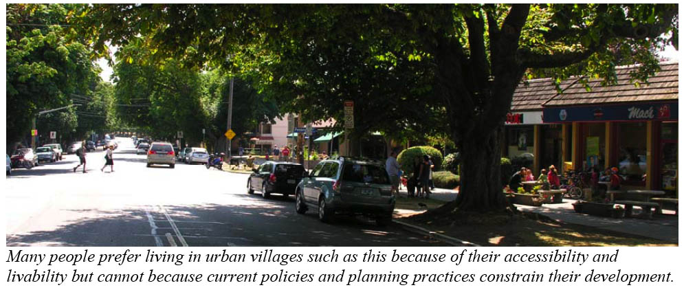 Smart growth streetscape example