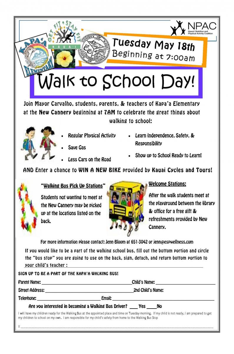 Walk to Scool Day Flier