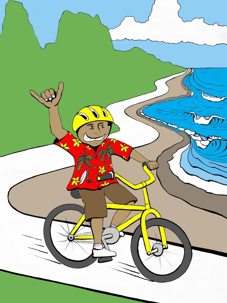 Lihue side ugly aloha shirt ride kauai path for Department of motor vehicles kauai